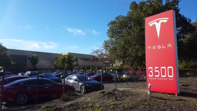 Broll of Tesla Motors headquarters