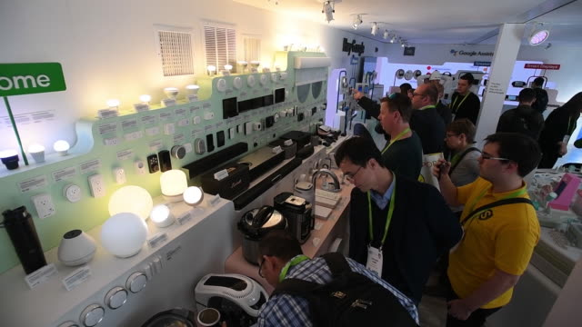 broll of the alphabet inc building and booth at 2018 ces in las vegas nevada usa on friday january 12 2018 - kiosk stock-videos und b-roll-filmmaterial