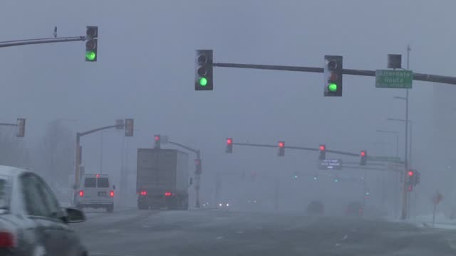 roll of the blizzard conditions in minnesota. footage taken near the mall of america and along interstate 494 near msp. highway overpass footage and... - minnesota stock videos & royalty-free footage