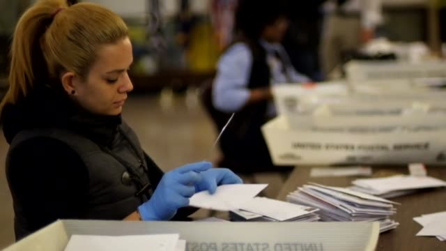 roll of the kickoff event at the james farley post office in new york. operation santa is new york's version of the nationwide usps 'letters to... - united states postal service stock videos & royalty-free footage