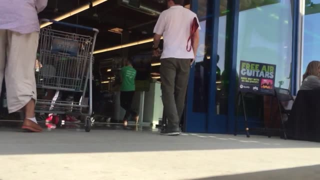 broll of the whole foods 365 market grand opening on 2520 glendale boulevard in los angeles - whole foods market stock videos and b-roll footage
