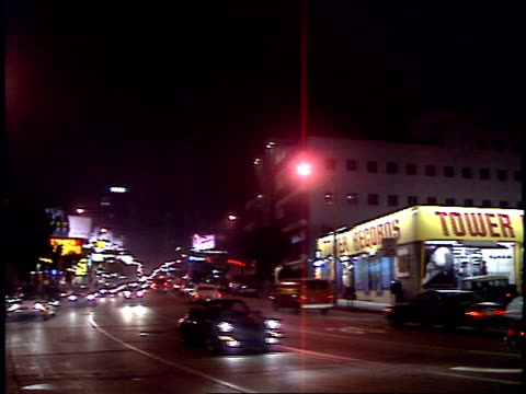 roll of tower records in los angeles. circa 2000's. - tower records stock videos & royalty-free footage