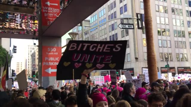 Broll of Women's March on Los Angeles