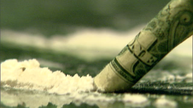 broll recreated footage of cocaine being used circa early 2000's - cocaine stock videos and b-roll footage