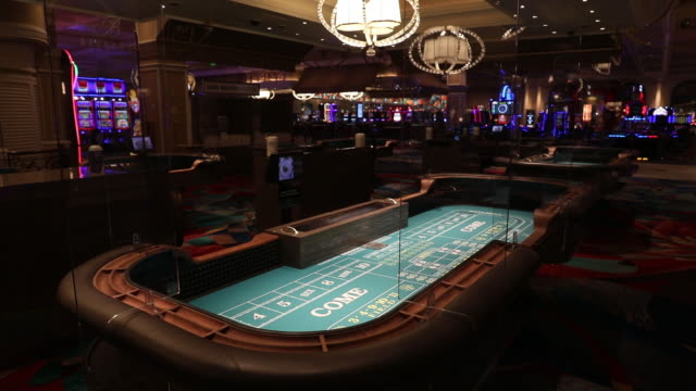 roll video displaying the new social distancing, crowd control and sanitizing procedures ahead of the casino's opening upcoming thursday. various... - bellagio hotel stock videos & royalty-free footage
