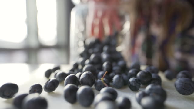 b-roll video of blueberries. - blueberry stock videos & royalty-free footage