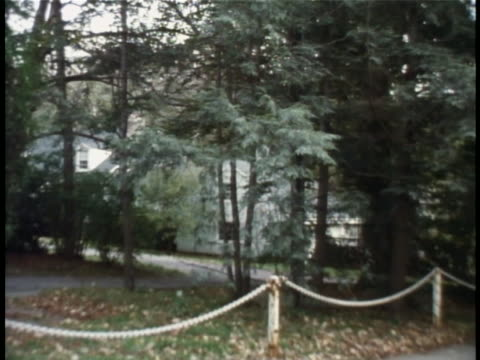 roll of the skakel house, in belle haven a private community in greenwich, connecticut. the skakels are related to the kennedys, and... - ethel kennedy stock videos & royalty-free footage