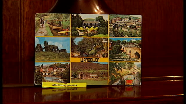 picture postcard from wales dating from 1981 - postcard stock videos and b-roll footage