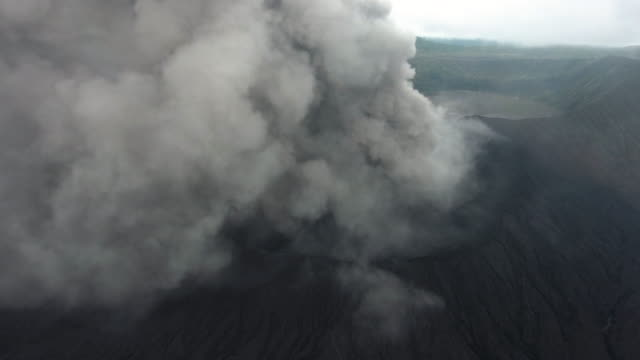 bromo volcanic aerial view - erupting stock videos & royalty-free footage