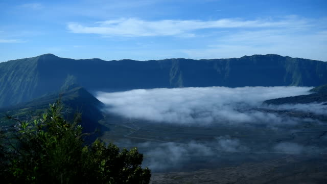bromo volcano crater mountain nature travel place of indonesia - bromo crater stock videos & royalty-free footage