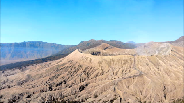 bromo volcano crater - bromo crater stock videos & royalty-free footage
