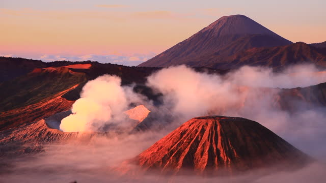 bromo volcano - indonesia volcano stock videos & royalty-free footage