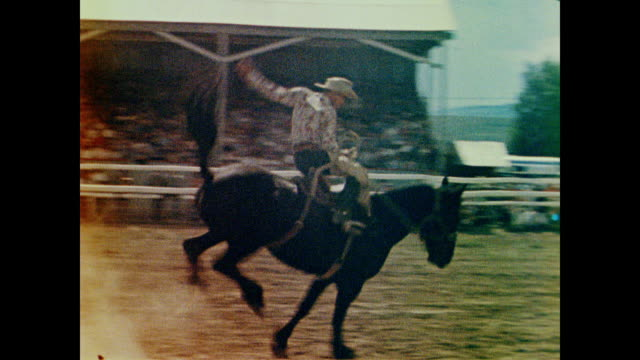 1958 bronco busters rise and fall - rodeo stock videos & royalty-free footage