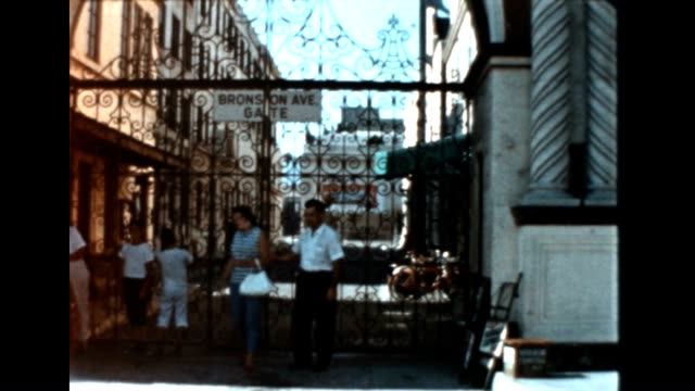 bronson gate at paramount studios from an archival home movie - paramount studios stock videos & royalty-free footage