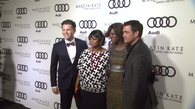 Bronson Green Octavia Spencer Viola Davis Tate Taylor at the Audi And Martin Katz Celebrate The 2012 Golden Globe Awards in West Hollywood CA