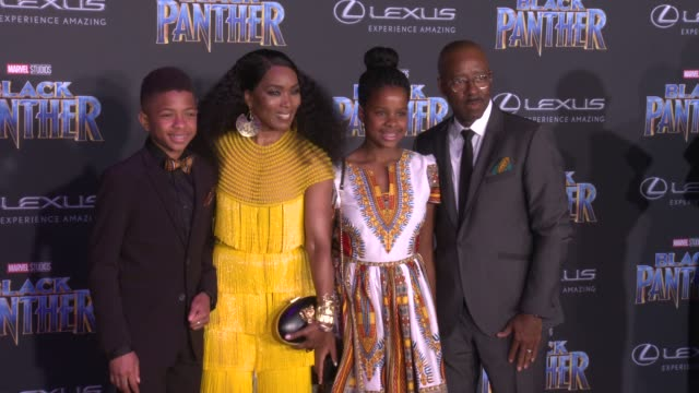 Bronwyn Vance Angela Bassett Slater Vance and Courtney B Vance at the Marvel Studios' Black Panther World Premiere at Dolby Theatre on January 29...