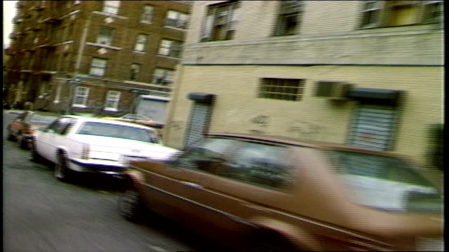 bronx streets from a moving car - ブロンクス点の映像素材/bロール