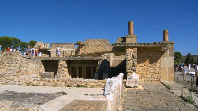 WS PAN Bronze age minoan archaeological site of Knossos Palace / Greece