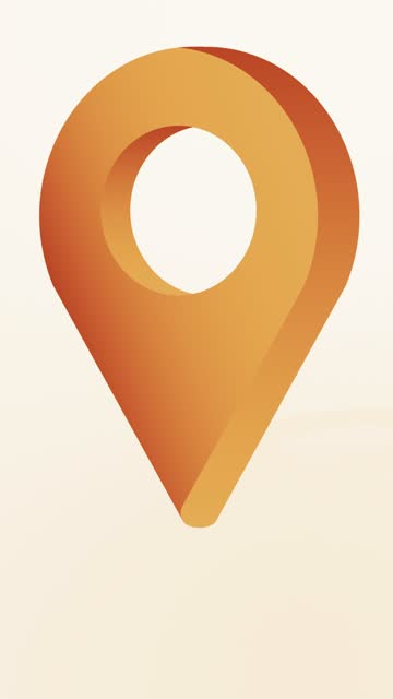 bronze location pin pointer animiertes cartoon-symbol - wegweiser stock-videos und b-roll-filmmaterial
