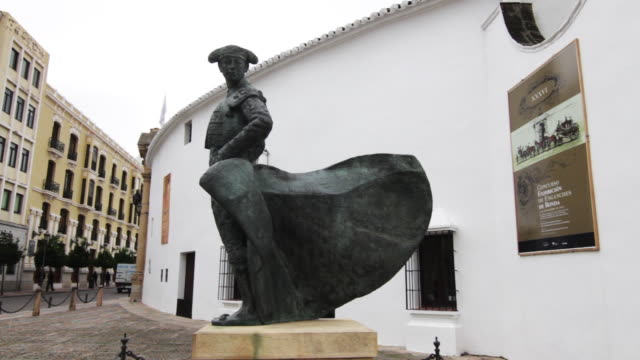 Bronze statue of Matador on a street in Ronda Spain Ronda is considered the birthplace of Spanish bullfighting