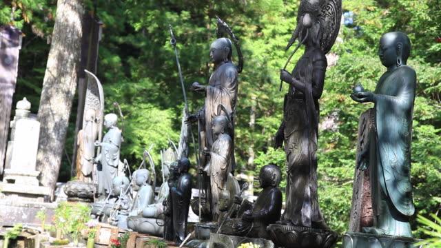 MS Bronze statues in temple / Kouya, Wakayama, Japan