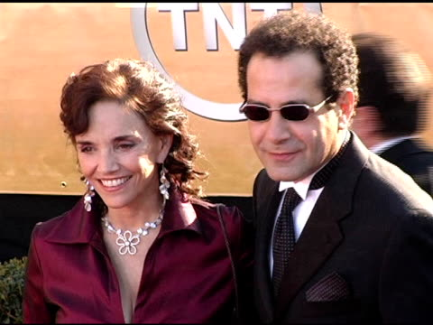 Brooke Adams and Tony Shalhoub at the 2005 Screen Actors Guild SAG Awards Arrivals at the Shrine Auditorium in Los Angeles California on February 5...