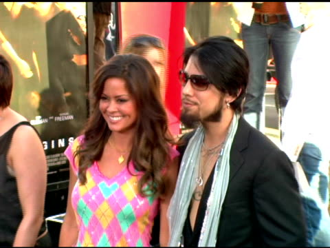 brooke burke and dave navarro at the batman begins premiere at grauman's chinese theatre in hollywood california on june 6 2005 - brooke burke stock videos and b-roll footage