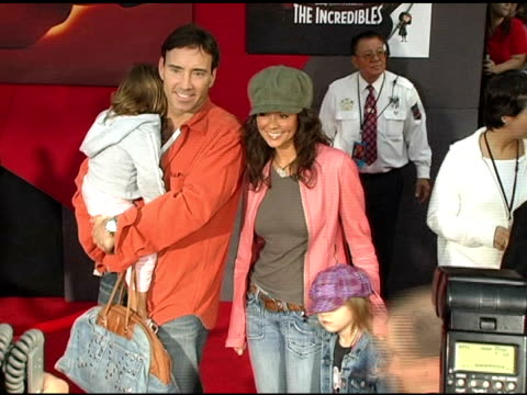 brooke burke and family at the 'the incredibles' premiere at the el capitan theatre in hollywood california on october 25 2004 - brooke burke stock videos and b-roll footage
