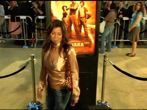 brooke burke at the 'sahara' los angeles premiere at grauman's chinese theatre in hollywood california on april 4 2005 - brooke burke stock videos and b-roll footage