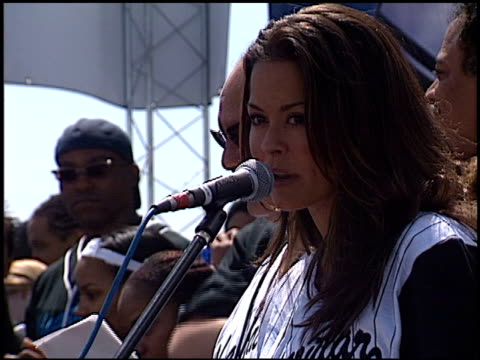 brooke burke at the shaqtacular vii at barker hanger in santa monica california on september 21 2002 - brooke burke stock videos and b-roll footage