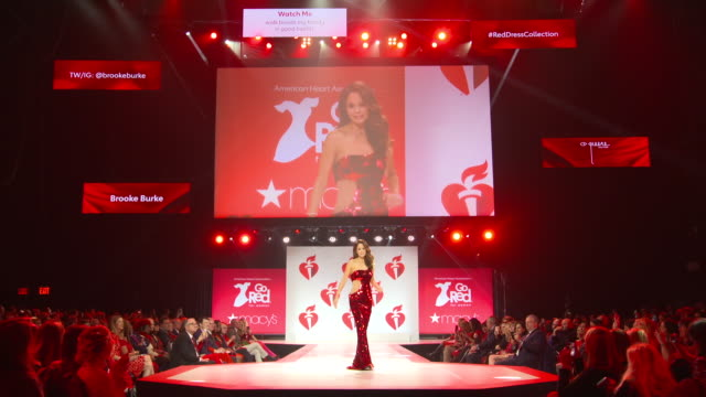 brooke burke at the the american heart association's go red for women red dress collection 2019 at hammerstein ballroom on february 07 2019 in new... - brooke burke stock videos and b-roll footage
