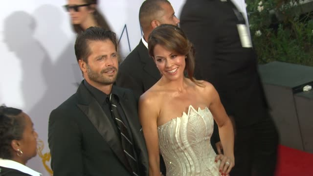 brooke burke charvet at 64th primetime emmy awards arrivals on 9/23/12 in los angeles ca - brooke burke stock videos and b-roll footage