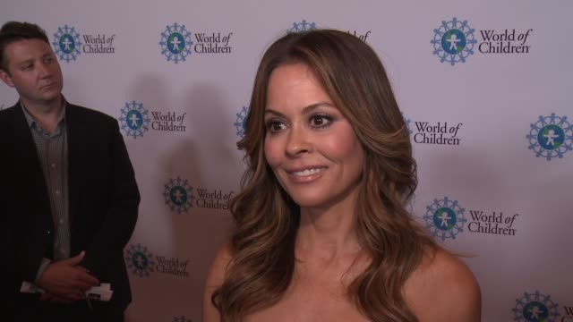 interview brooke burke charvet on the event at 2017 world of children hero awards in los angeles ca - brooke burke stock videos and b-roll footage