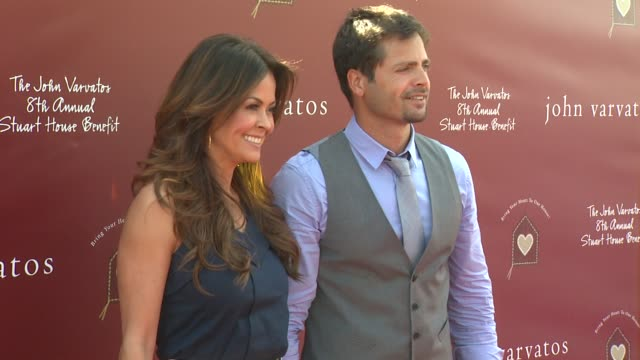 brooke burke david charvet at the john varvatos 8th annual stuart house benefit at los angeles ca - brooke burke stock videos and b-roll footage