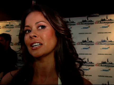 brooke burke on enjoying over the past two seasons watching the talent grow on not spending much time with the contestants individually on being... - brooke burke stock videos and b-roll footage