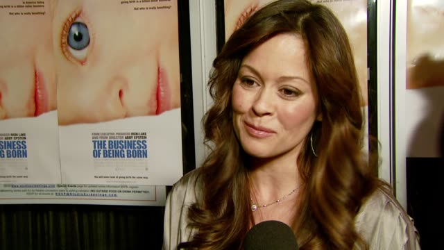 brooke burke on how she's preganant again how many more babies they plan to have and how she has always given birth in hospitals and been talked out... - brooke burke stock videos and b-roll footage