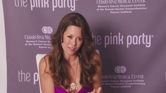 brooke burke pink at the pink party 2008 at santa monica ca - brooke burke stock videos and b-roll footage