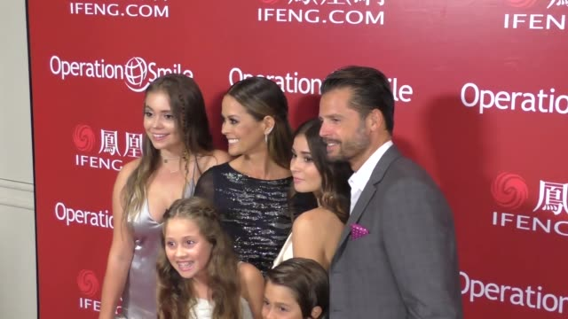 brooke burkecharvet david charvet and family at operation smile's los angeles smile gala at the beverly wilshire beverly hills at celebrity sightings... - brooke burke stock videos and b-roll footage