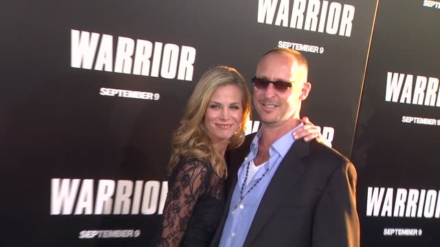 brooke burns and gavin o'connor at the 'warrior' los angeles premiere at hollywood ca. - brooke burns stock videos & royalty-free footage