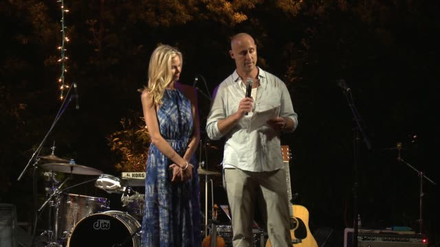 brooke burns and gavin o'connor explain the importance of the foundation and the benefit of the fundraiser at the charlotte and gwenyth gray... - brooke burns stock videos & royalty-free footage