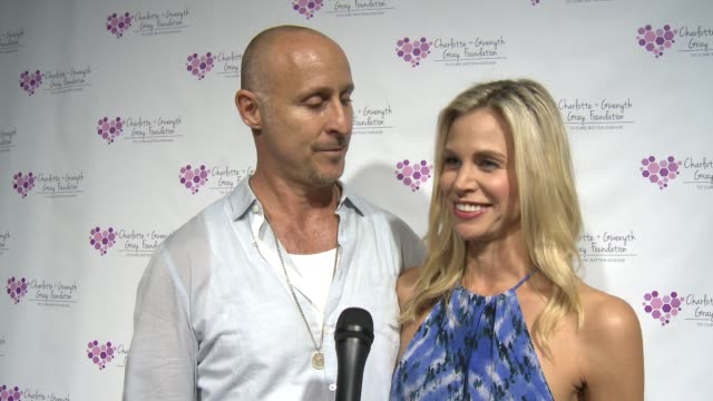 brooke burns and gavin o'connor on what it means to be a part of the event at the charlotte and gwenyth gray foundation to cure batten disease... - brooke burns stock videos & royalty-free footage