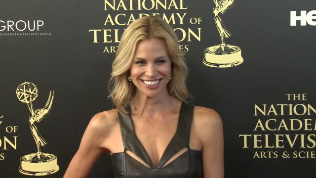 brooke burns at the 2014 daytime emmy awards at the beverly hilton hotel on june 22, 2014 in beverly hills, california. - brooke burns stock videos & royalty-free footage