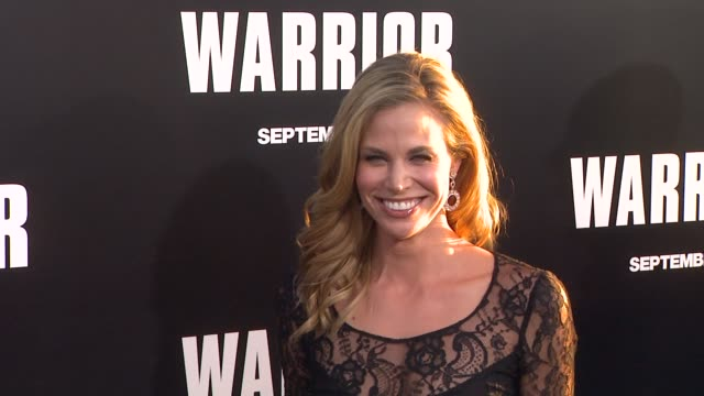 brooke burns at the 'warrior' los angeles premiere at hollywood ca. - brooke burns stock videos & royalty-free footage