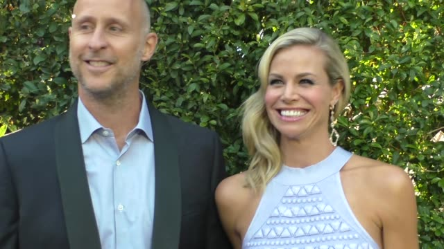 brooke burns & gavin o'connor arriving to the 2015 summer tca tour - hallmark channel and hallmark movies and mysteries in beverly hills in celebrity... - brooke burns stock videos & royalty-free footage