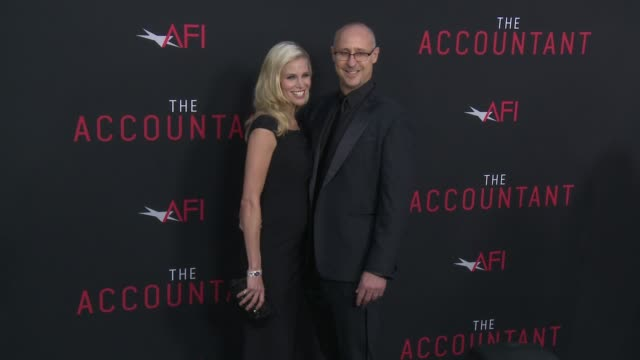 "brooke burns, gavin o'connor at ""the accountant"" premiere in los angeles, ca 10/10/16 - brooke burns stock videos & royalty-free footage"