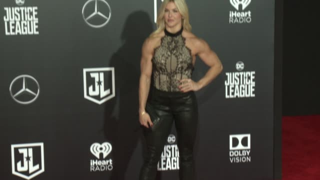 brooke ence at the justice league world premiere at dolby theatre on november 13 2017 in hollywood california - the dolby theatre stock videos & royalty-free footage