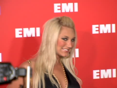 brooke hogan at the emi post-grammy party at in los angeles, california. - emi grammy party stock videos & royalty-free footage
