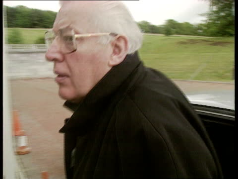 brooke initiative talks sir ninian stephen to chair northern cms rev ian paisley getting out of car and side stands gv stormont - ninian stephen stock videos and b-roll footage