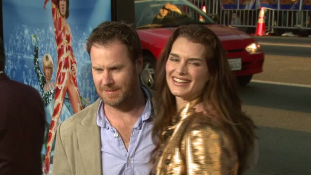brooke shields and chris henchy at the 'blades of glory' premiere at grauman's chinese theatre in hollywood california on march 28 2007 - brooke shields stock videos and b-roll footage
