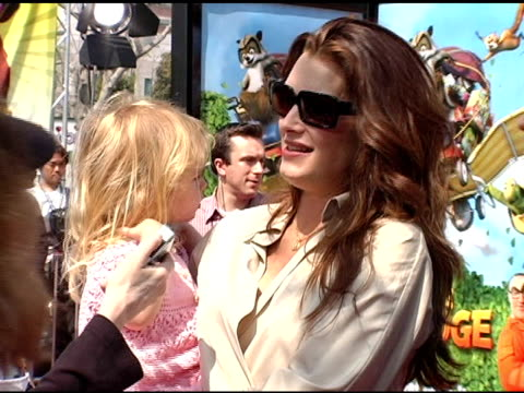 brooke shields and family at the 'over the hedge' los angeles premiere on april 30, 2006. - ブルック シールズ点の映像素材/bロール